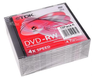 Verbatim DVD+RW 4.7 GB 4x Jewel Case (10 szt.)