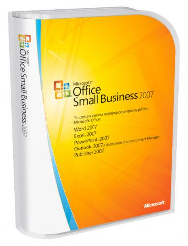 Microsoft Office 2007 Small Business Upgrade PL BOX