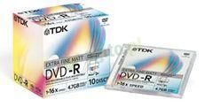 TDK DVD-R 4.7 GB 16x Extra Fine Matt Do Nadruku Jewel Case(10szt.)